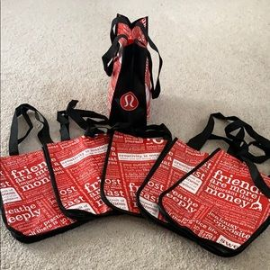 Lululemon athletica small reusable TOTE bags